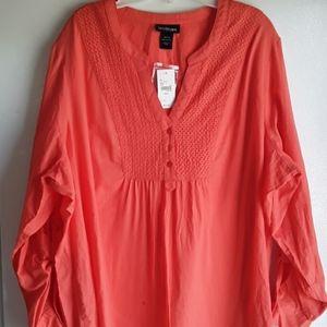 NWT 22/24 Lane Bryant Beautiful Orange Tunic Top